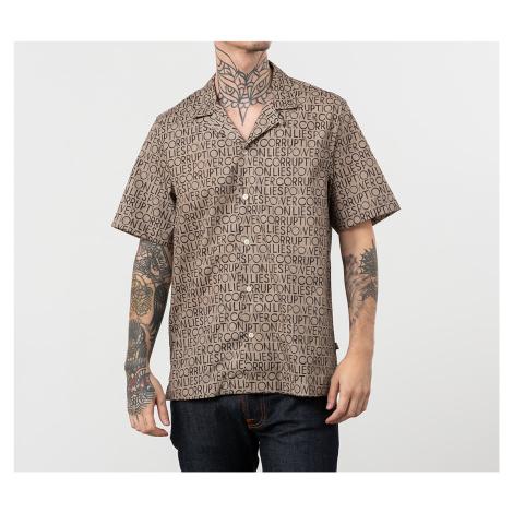 Wood Wood Brandon Shirt Taupe Aop