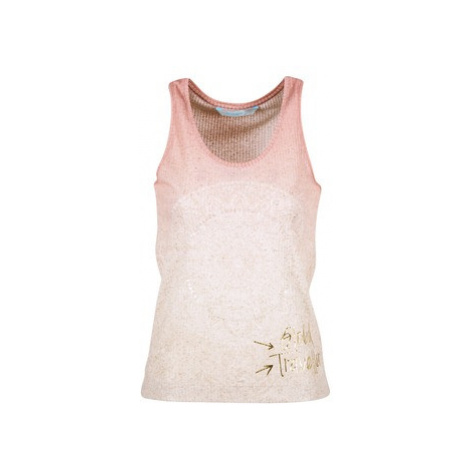 Desigual ROMINESSA women's Vest top in Pink