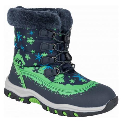 ALPINE PRO TREJO green - Kids' winter footwear