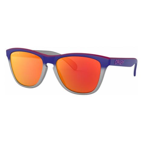 Oakley Man OO9013 Frogskins™ - Frame color: Silver, Lens color: Red, Size 55-17/139