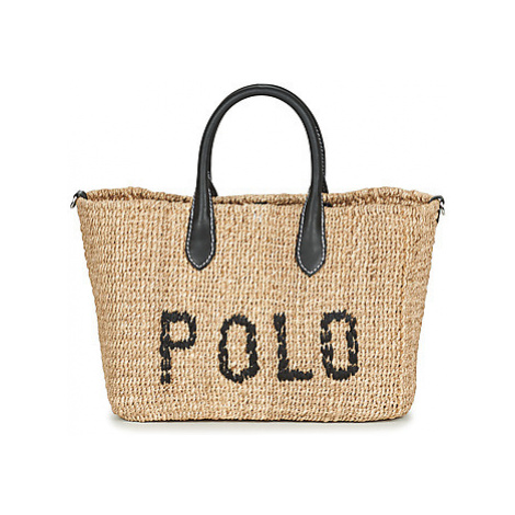 Polo Ralph Lauren STRUCTURED BASKET TOTE women's Shopper bag in Beige