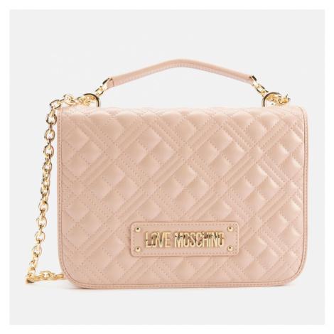 Love Moschino Women's Quilted Medium Shoulder Bag - Pink