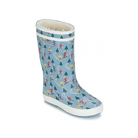 Aigle LOLLY POP PRINT FUR girls's Children's Snow boots in Grey