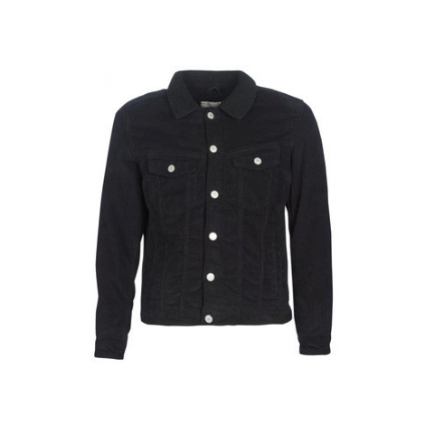 Jack Jones JJIALVIN SHERPA men's Jacket in Black Jack & Jones