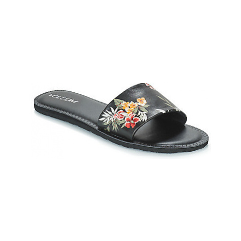 Volcom SIMPLE SLIDE women's Mules / Casual Shoes in Black