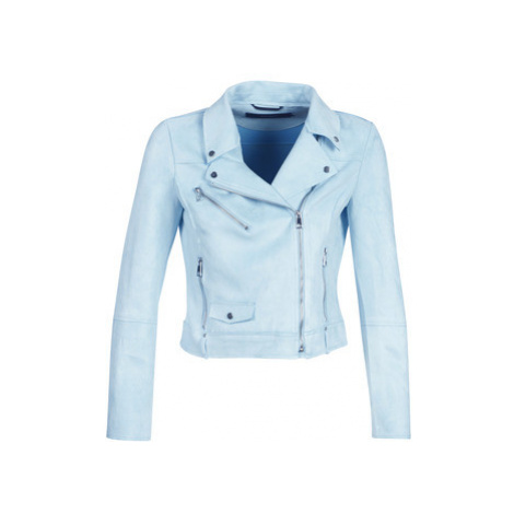 Vero Moda VMTILLA women's Leather jacket in Blue