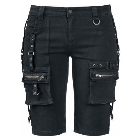 Fashion Victim - Strap Shorts - Girls shorts - black
