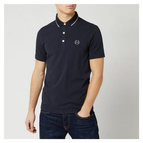 Armani Exchange Men's Small Logo Polo Shirt - Navy