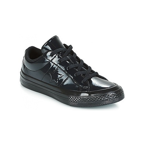 Converse ONE STAR SYNTHETIC OX girls's Children's Shoes (Trainers) in Black
