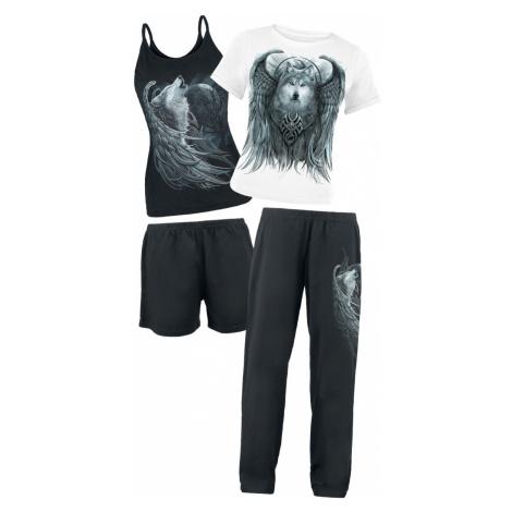 Spiral - Wolf Spirit - Pyjamas - black-white