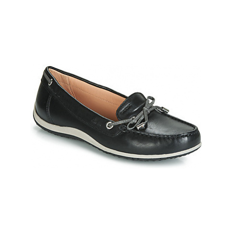 Geox D VEGA MOC women's Loafers / Casual Shoes in Black