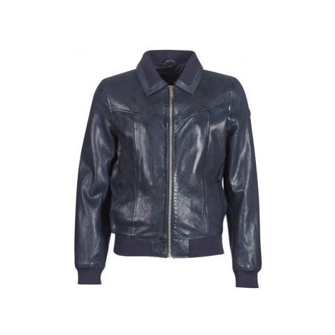 Redskins RUBBETS men's Leather jacket in Blue