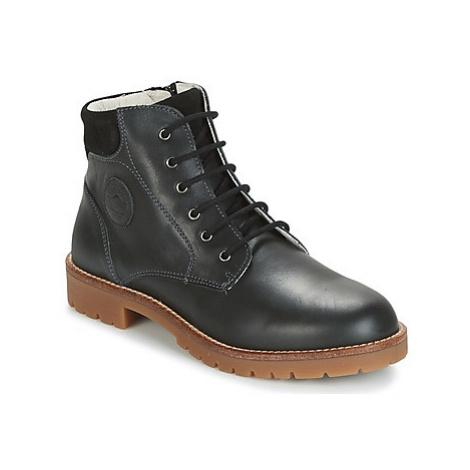 Garvalin DESERT boys's Children's Mid Boots in Black Garvalín