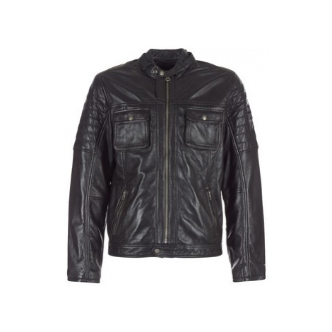 Pepe jeans CINNAMON men's Leather jacket in Black