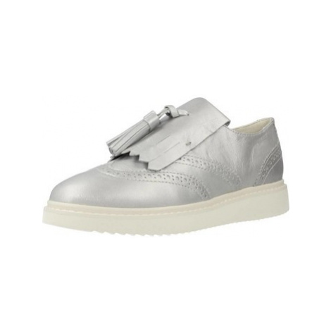 Geox D THYMAR women's Loafers / Casual Shoes in Silver