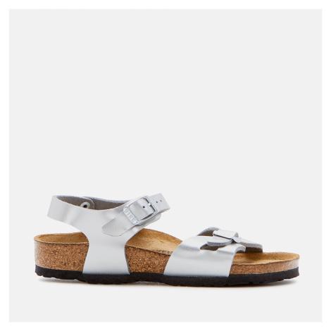 Birkenstock Rio Kids' Sandals - Electric Metallic Silver