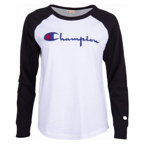 Champion CREWNECK LONG SLEEV white - Women's long sleeve T-shirt