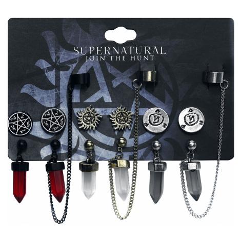 Supernatural - Symbols - Earring set - multicolour