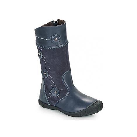 Citrouille et Compagnie AMATIS girls's Children's High Boots in Blue