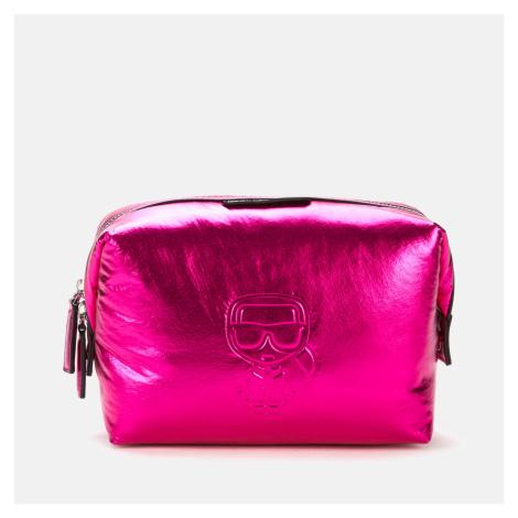 KARL LAGERFELD Women's K/Ikonik Nylon Washbag - Metallic Pink