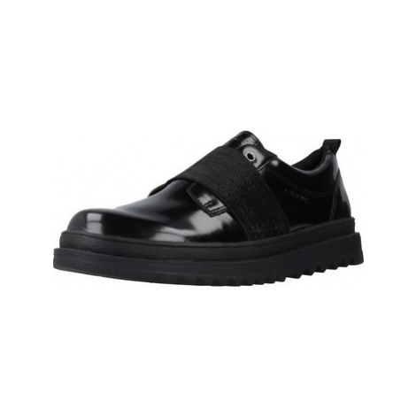 Geox J GILLYJAW GIRL women's Loafers / Casual Shoes in Black