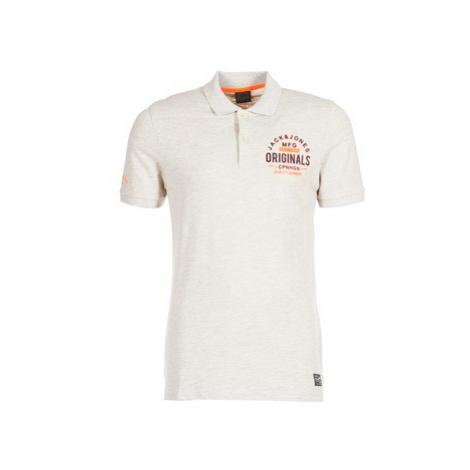 Jack Jones JORSOLIDUDE men's Polo shirt in White Jack & Jones