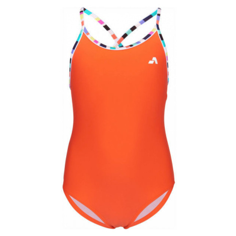 Aress LUMA orange - Girls' one-piece swimsuit