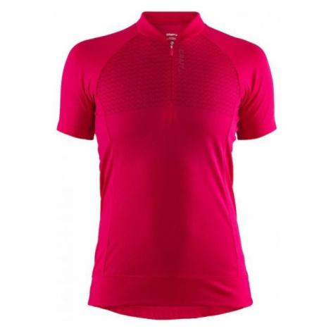 Craft RISE pink - Women's cycling jersey