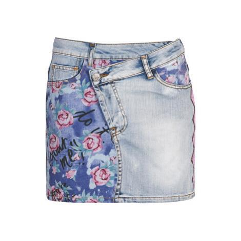 Blue denim skirts