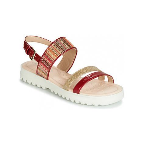 Geox J SANDAL CORALIE GIR girls's Children's Sandals in Red