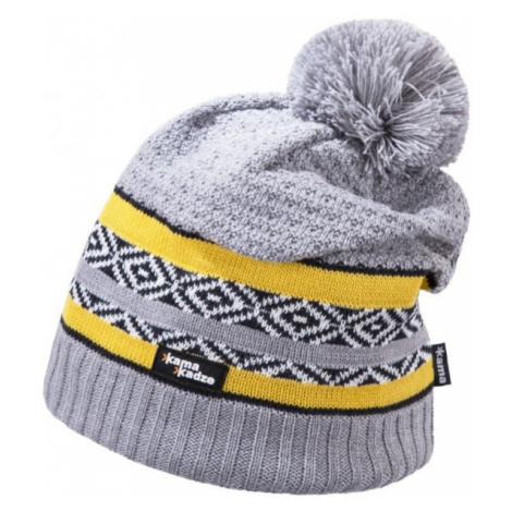 Kama MERINO BOBBLE HAT grey - Winter hat