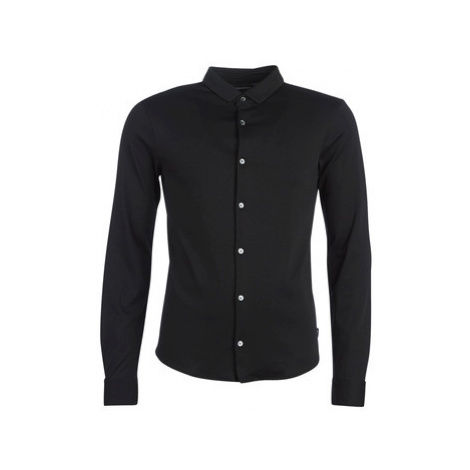 Emporio Armani YOULLINE men's Long sleeved Shirt in Black