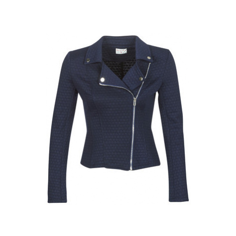 Blue women's leather and faux leather jackets