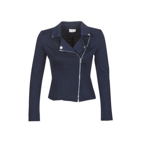 Moony Mood LAULA women's Leather jacket in Blue