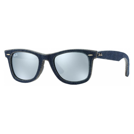 Ray-Ban Original wayfarer denim Unisex Sunglasses Lenses: Gray, Frame: Blue - RB2140 119430 50-2