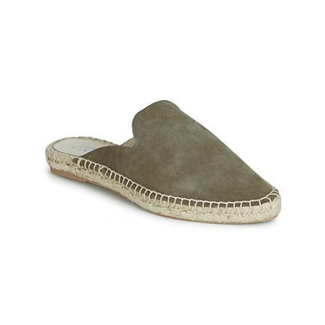 1789 Cala MALA LEATHER women's Espadrilles / Casual Shoes in Kaki
