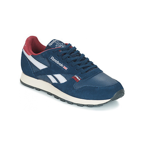 Reebok Classic CL LEATHER MU men's Shoes (Trainers) in Blue