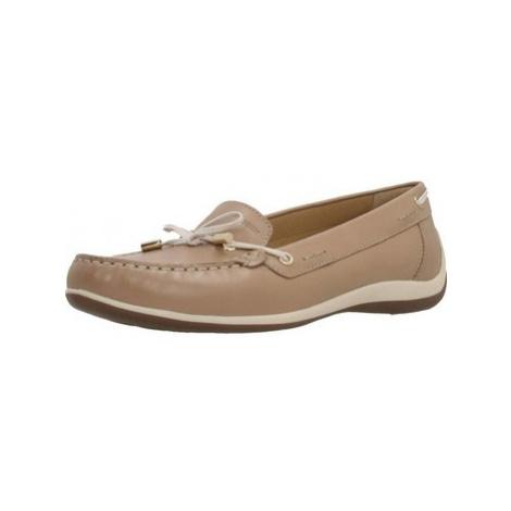 Geox D YUKI women's Boat Shoes in Brown