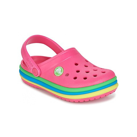 Crocs CB RAINBOW BAND CLOG K girls's Children's Clogs (Shoes) in Pink