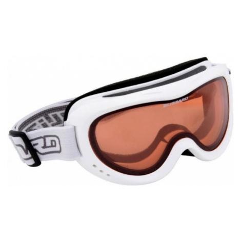 White snowboarding equipment