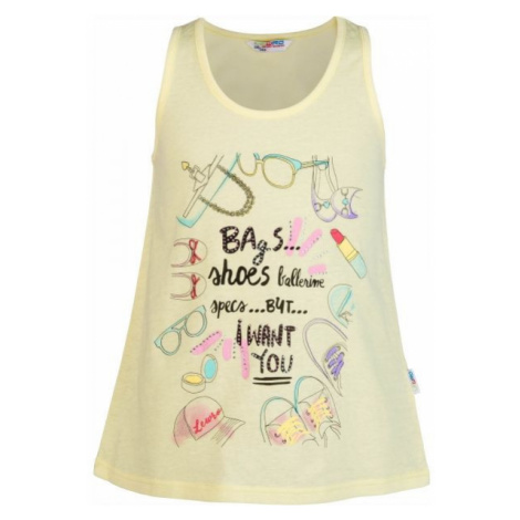 Lewro ORINDA yellow - Girls' tank top