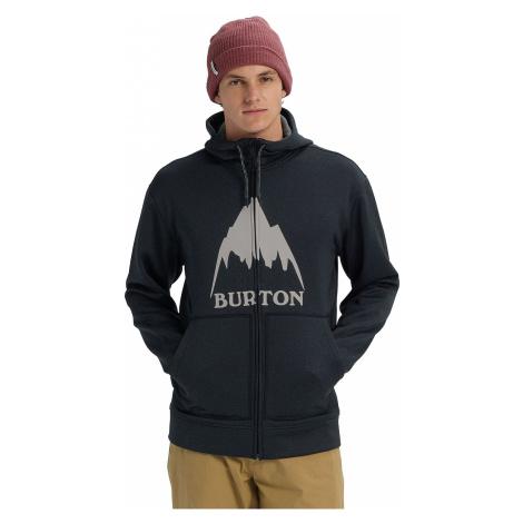 sweatshirt Burton Oak Zip - Mountain True Black Heather - men´s