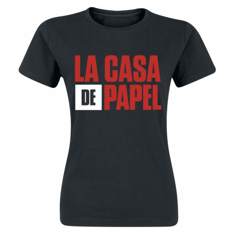 La Casa De Papel - Logo - Girls shirt - black