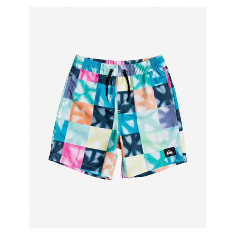 Quiksilver Dye Check Volley Kids Swimsuit Colorful
