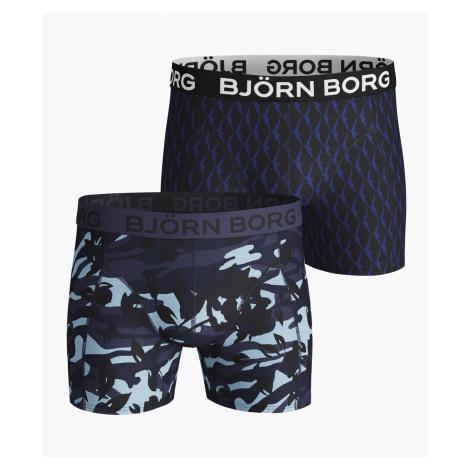 CAMO FLORAL & WINGSPAN COTTON STRETCH SHORTS 2-PACK Crown Blue Bjorn Borg