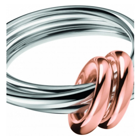 Ladies Calvin Klein Two-Tone Steel and Rose Plate Size L Nimble Bico Ring KJ5HMR200106