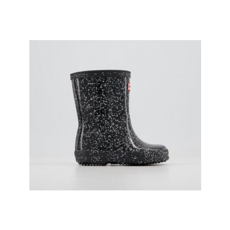 Hunter First Classic Welly BLACK GIANT GLITTER