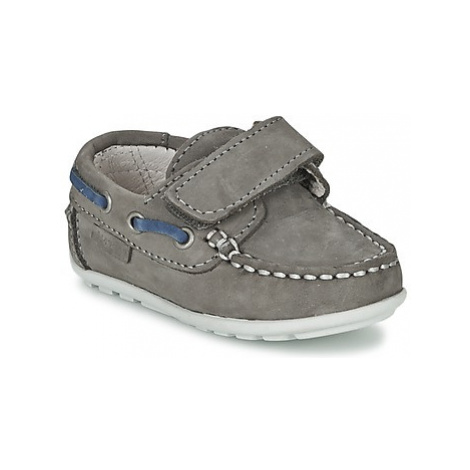 Garvalin NOBUCK boys's Children's Boat Shoes in Grey Garvalín