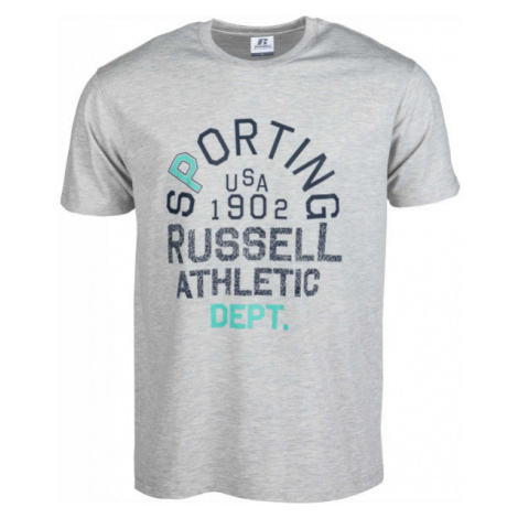 Russell Athletic SPORTING S/S CREWNECK TEE SHIRT gray - Men's T-shirt