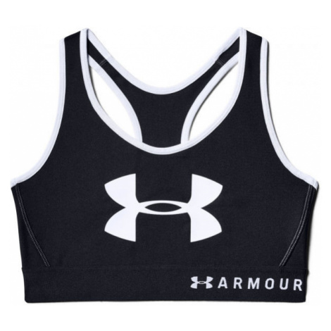Under Armour MID KEYHOLE GRAPHIC black - Women's bra